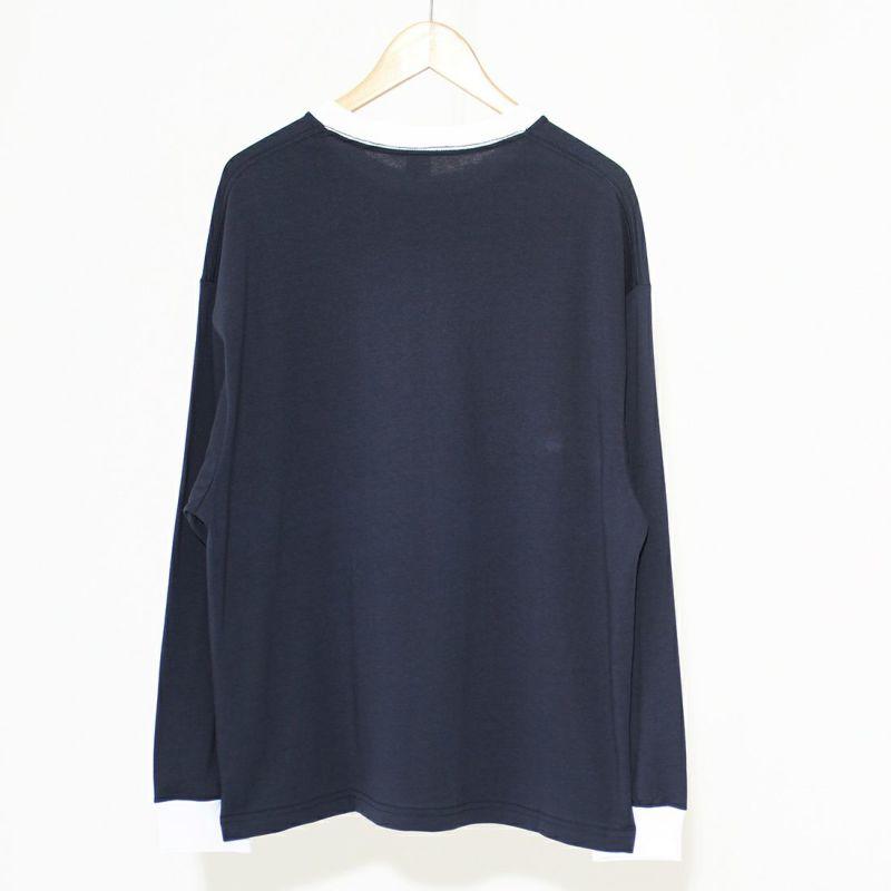 PAY DAY [ペイデイ] 別注 ビッグリンガーソリッドTシャツ [PD-IN-CS009-JF] NAVY