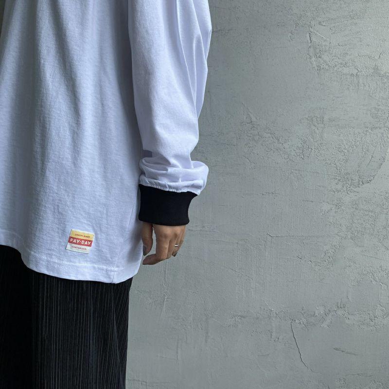 PAY DAY [ペイデイ] 別注 ビッグリンガーソリッドTシャツ [PD-IN-CS009-JF] WHITE