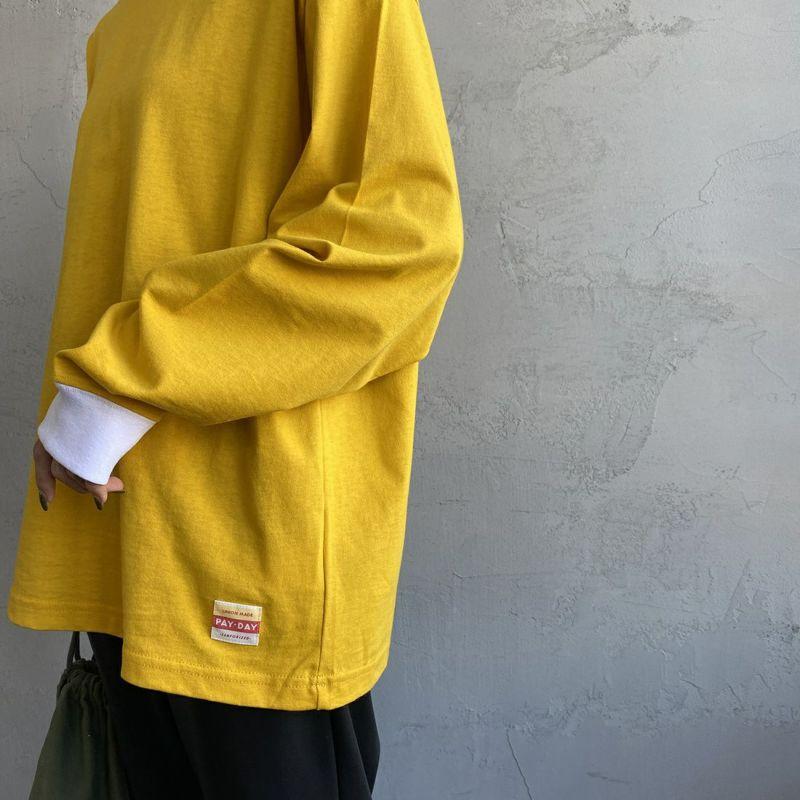 PAY DAY [ペイデイ] 別注 ビッグリンガーソリッドTシャツ [PD-IN-CS009-JF] YELLOW