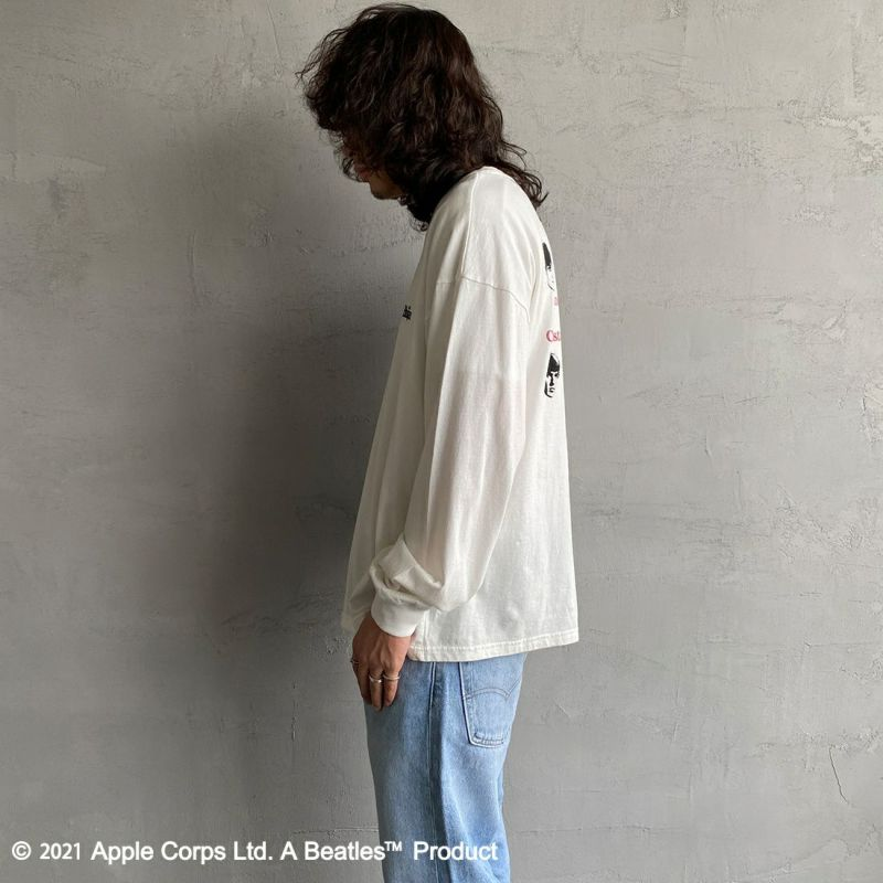 THE BEATLES [ザ・ビートルズ] BT×バックプリント ロングスリーブTシャツ [1715001-T] &&モデル身長:173cm 着用サイズ:L&& 06 OFF