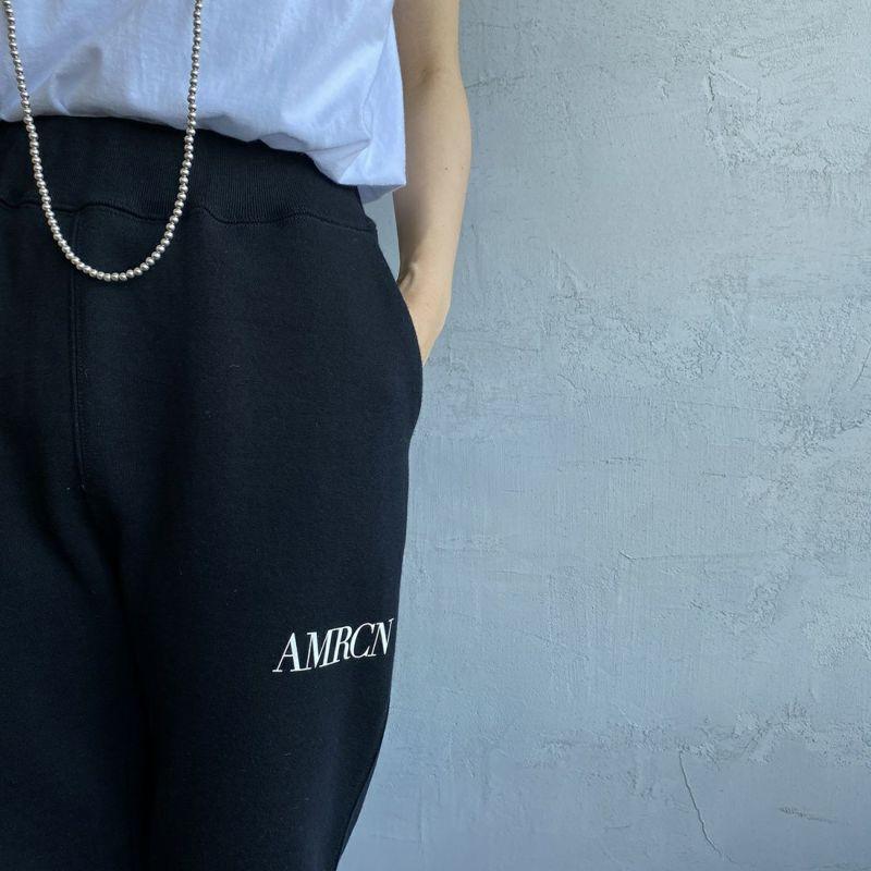 Americana × JEANS FACTORY [アメリカーナ × ジーンズファクトリー] 別注 AMRCN スウェットパンツ [ASO-493-1-JF] ブラック