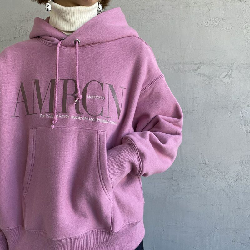 Americana × JEANS FACTORY [アメリカーナ × ジーンズファクトリー] 別注 AMRCNスウェットパーカー [ASO-M-494-1-JF] ピンク