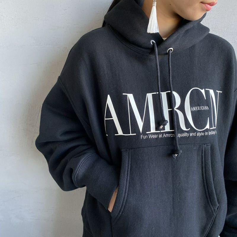 Americana × JEANS FACTORY [アメリカーナ × ジーンズファクトリー] 別注 AMRCNスウェットパーカー [ASO-M-494-1-JF] ブラック