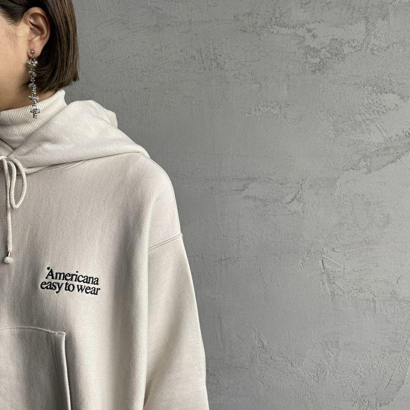 Americana × JEANS FACTORY [アメリカーナ × ジーンズファクトリー] 別注 ロゴ刺繍スウェットパーカー [ASO-M-494-2-JF] ナチュラル