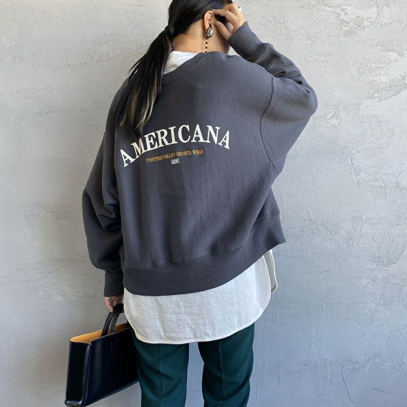 Americana × JEANS FACTORY [アメリカーナ × ジーンズファクトリー] 別注 アーチロゴ 2WAYスウェット [ASO-M-492-1-JF] スミクロ