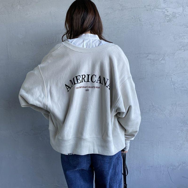 Americana × JEANS FACTORY [アメリカーナ × ジーンズファクトリー] 別注 アーチロゴ 2WAYスウェット [ASO-M-492-1-JF] ナチュラル
