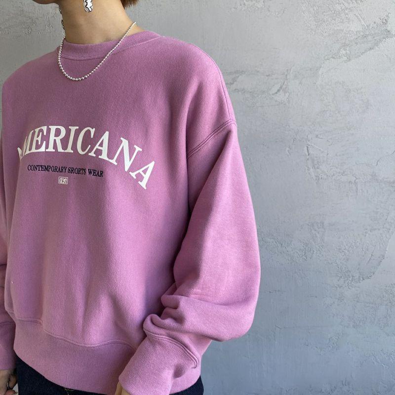 Americana × JEANS FACTORY [アメリカーナ × ジーンズファクトリー] 別注 アーチロゴ 2WAYスウェット [ASO-M-492-1-JF] ピンク