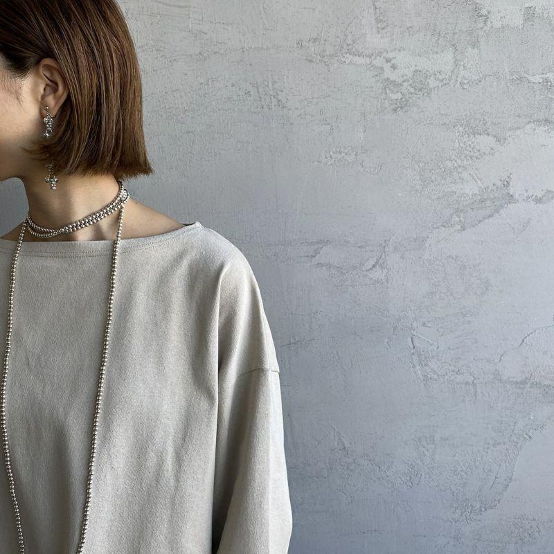 ORCIVAL [オーシバル] ワイドシルエット ボートネックバスクTシャツ [B449] TUFFEAU