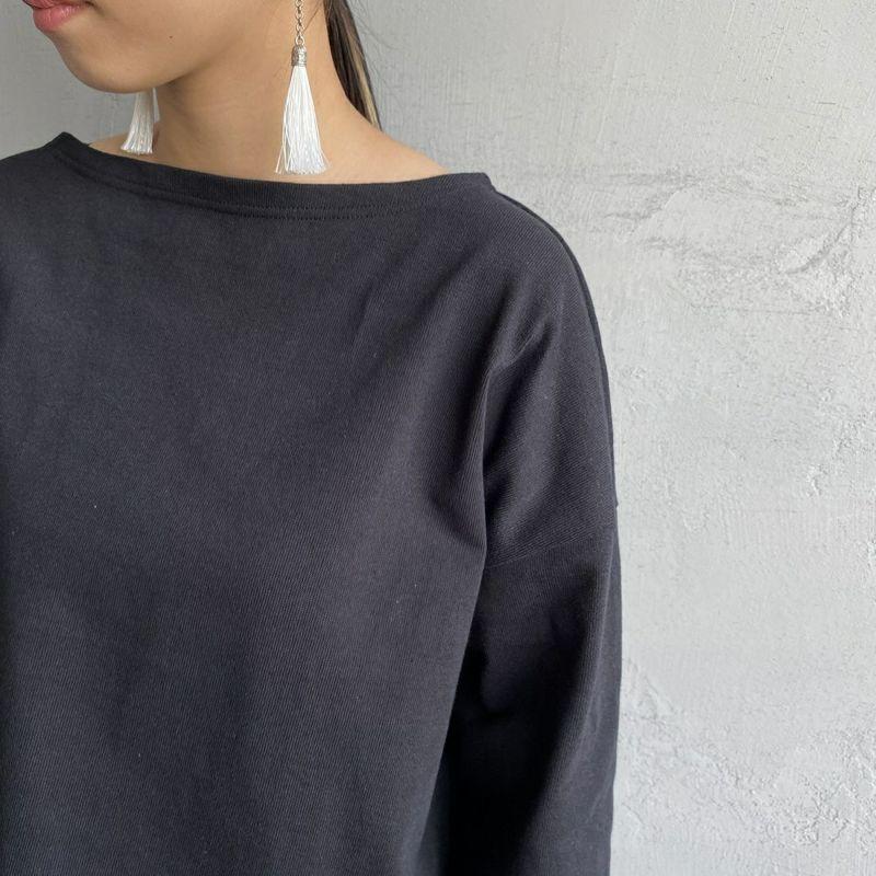 ORCIVAL [オーシバル] ワイドシルエット ボートネックバスクTシャツ [B449] BLACK