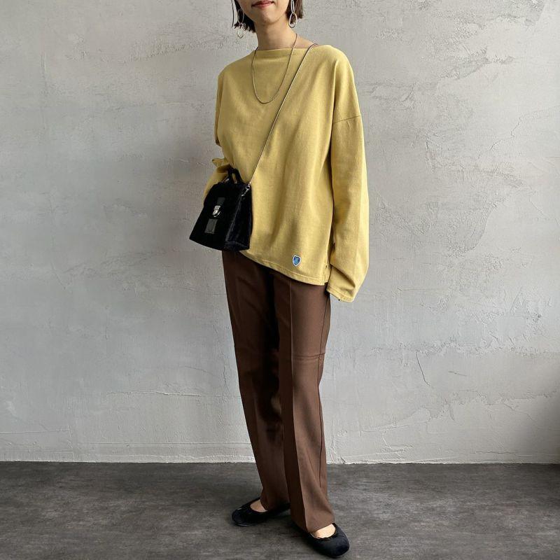 ORCIVAL [オーシバル] ワイドシルエット ボートネックバスクTシャツ [B449] DAISY&&モデル身長:163cm 着用サイズ:1&&