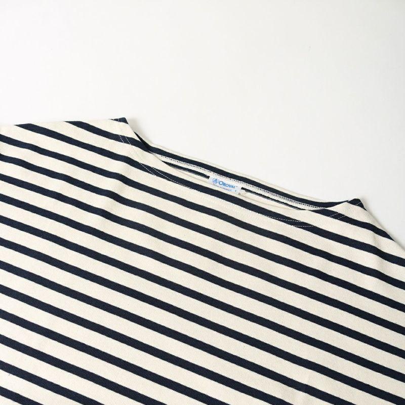 ORCIVAL [オーシバル] ワイドシルエット ボートネックバスクTシャツ [B449] ECR/MAR