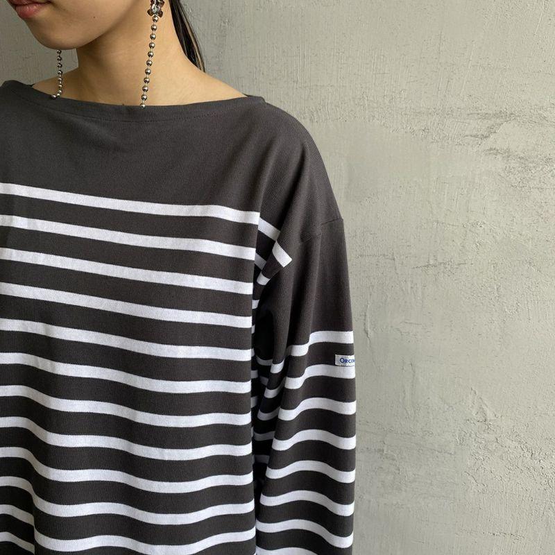 ORCIVAL [オーシバル] ボートネックボーダーTシャツ [6101C] COA/WHI