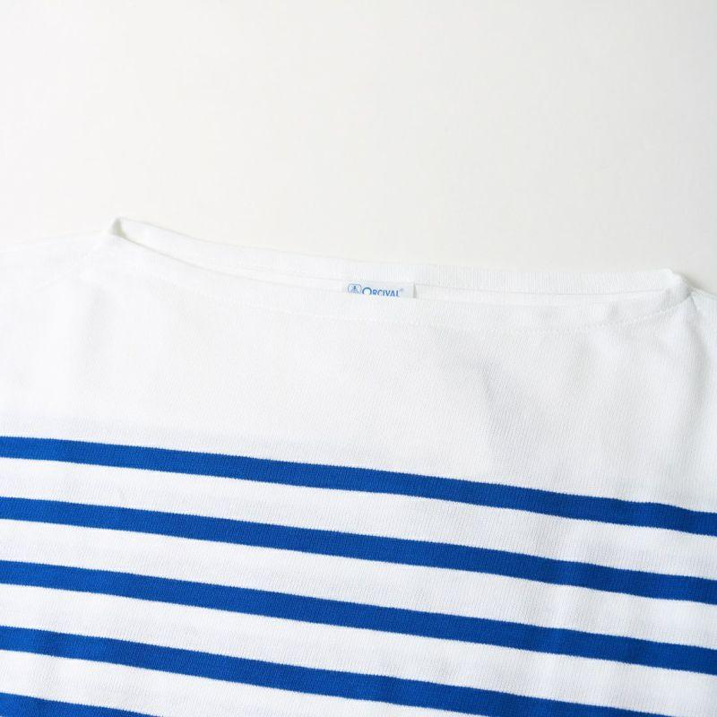 ORCIVAL [オーシバル] ボートネックボーダーTシャツ [6101C] WHI/BLE