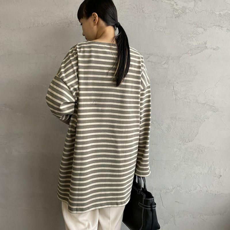 ORCIVAL [オーシバル] ボートネック チュニックバスクTシャツ [B335] KIM/TUF&&モデル身長:156cm 着用サイズ:1&&
