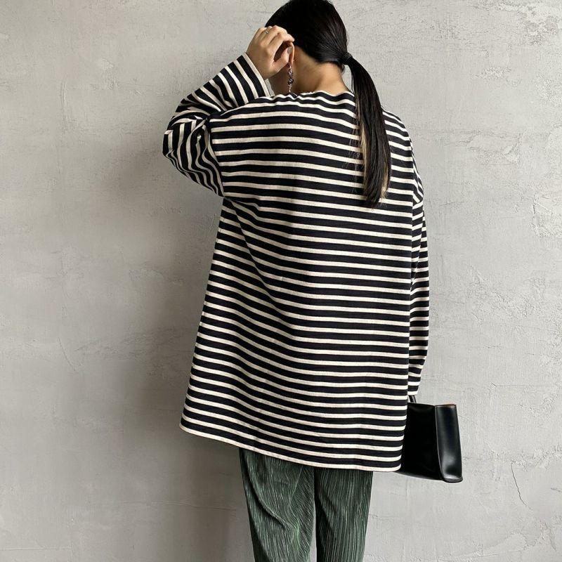 ORCIVAL [オーシバル] ボートネック チュニックバスクTシャツ [B335] BLA/CLA&&モデル身長:156cm 着用サイズ:1&&