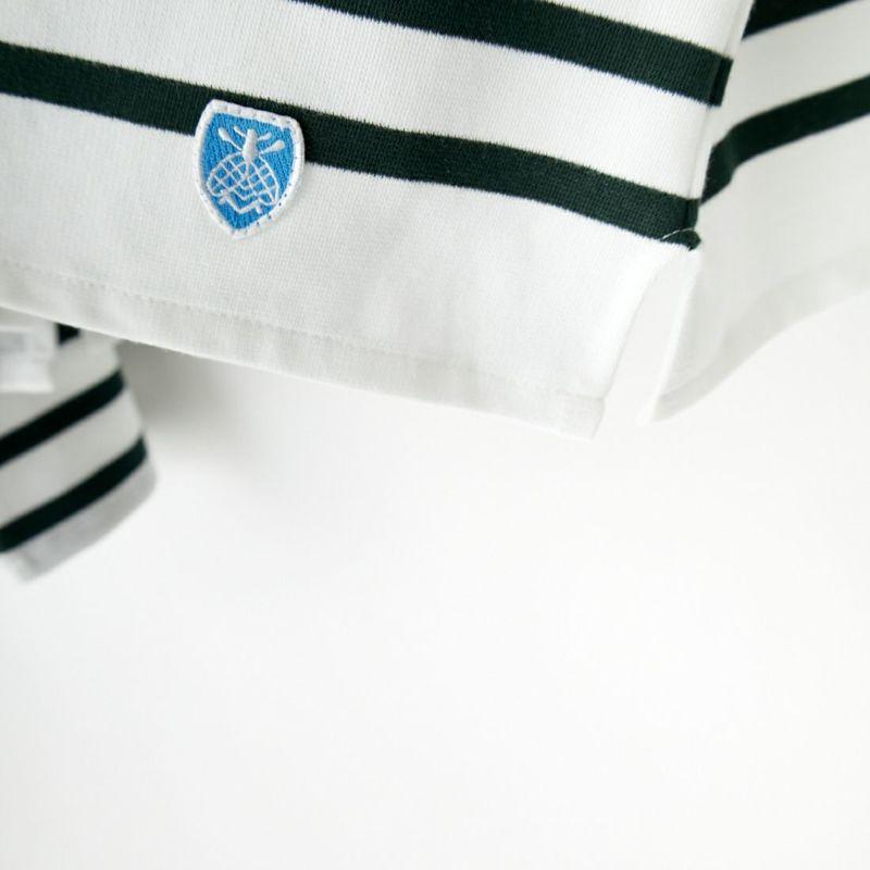 ORCIVAL [オーシバル] ワイドシルエット ボートネックTシャツ [6819] WHI/BLE&&モデル身長:163cm 着用サイズ:1&&