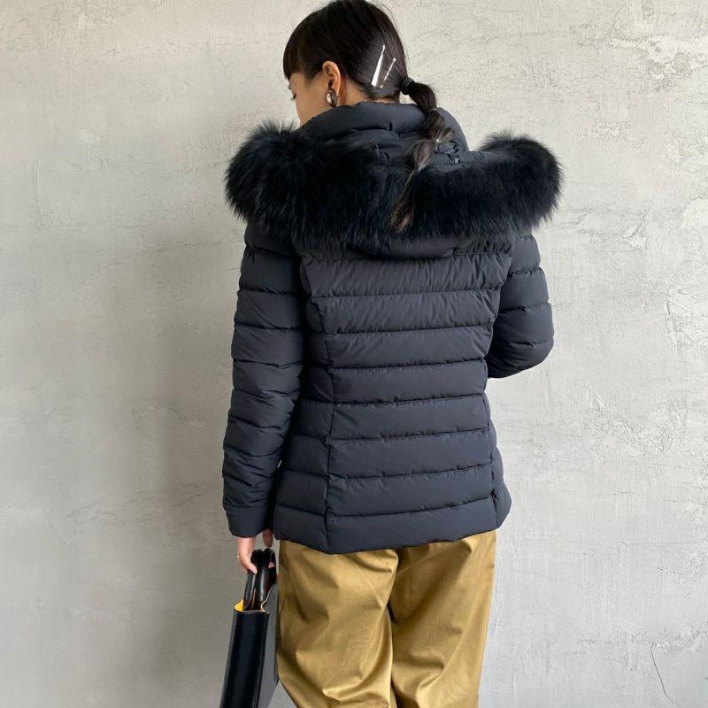 CAPE HORN [ケープホーン] SALTA MURMASKY(サルタ マーマスキー)ダウンジャケット [12576] 500 BLACK&&モデル身長:156cm 着用サイズ:42&&
