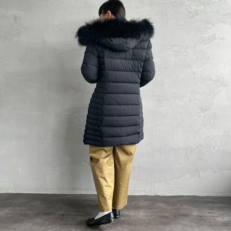 CAPE HORN [ケープホーン] MARUJAMURMASKY(マルジャマーマスキー)ダウンジャケット [12579] 500 BLACK&&モデル身長:156cm 着用サイズ:42&&