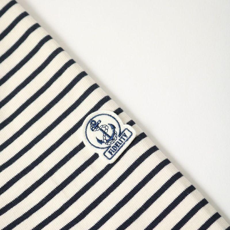 FIDELITY [フィデリティ] 別注 モックネックボーダーロングスリーブTシャツ [TK-1775904-JF] 37 OFF/NVY