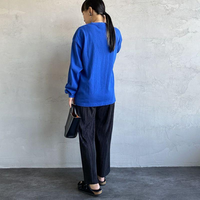 THE SHINZONE [ザ シンゾーン] CUSTOM BOB Tシャツ [21AMSCU19] 83 BLUE&&モデル身長:156cm 着用サイズ:F&&