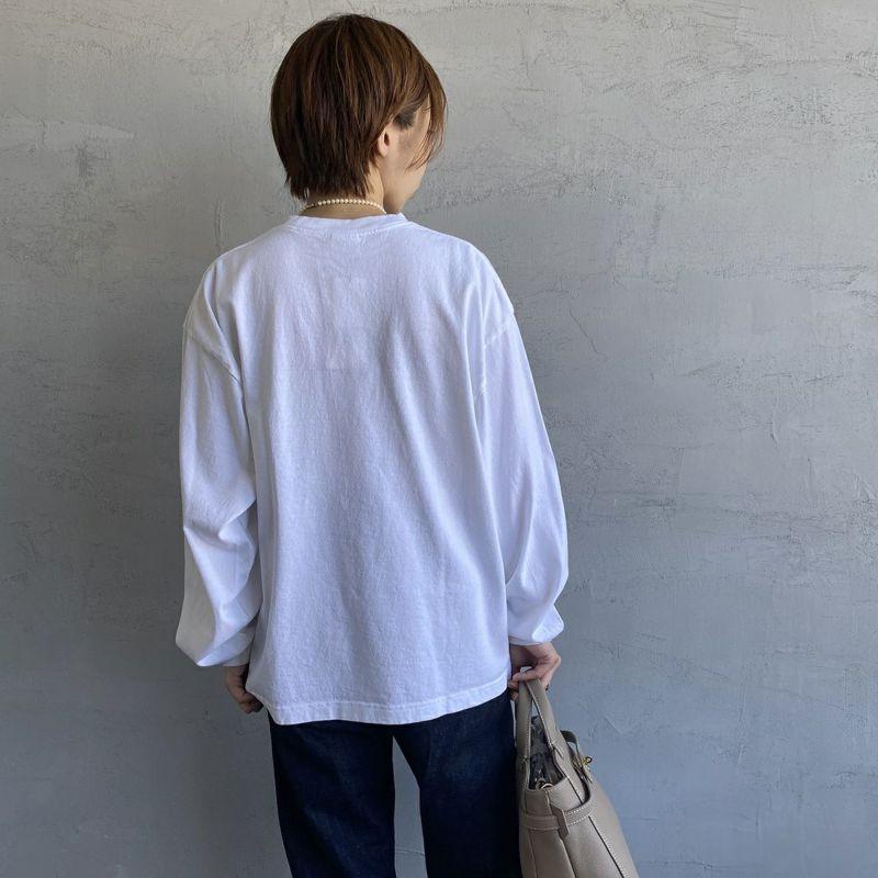 THE SHINZONE [ザ シンゾーン] CUSTOM BOB Tシャツ [21AMSCU19] 01 WHITE&&モデル身長:158cm 着用サイズ:F&&