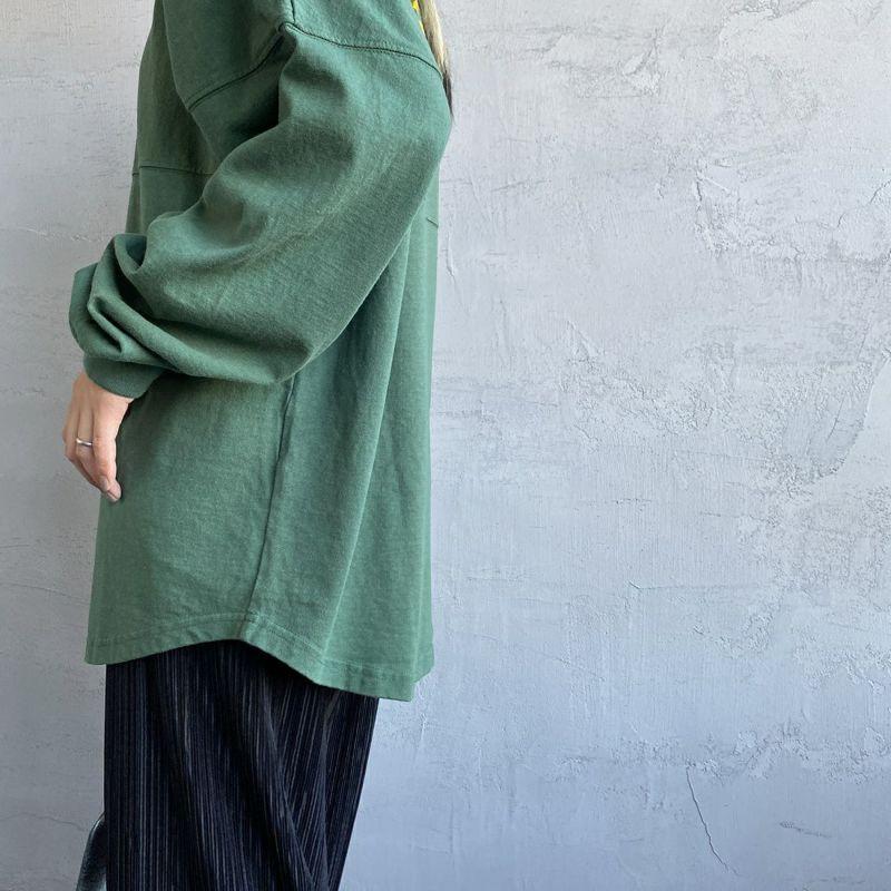 THE SHINZONE [ザ シンゾーン] ミリタリーバックプリントTシャツ [21AMSCU15] 75 GREEN
