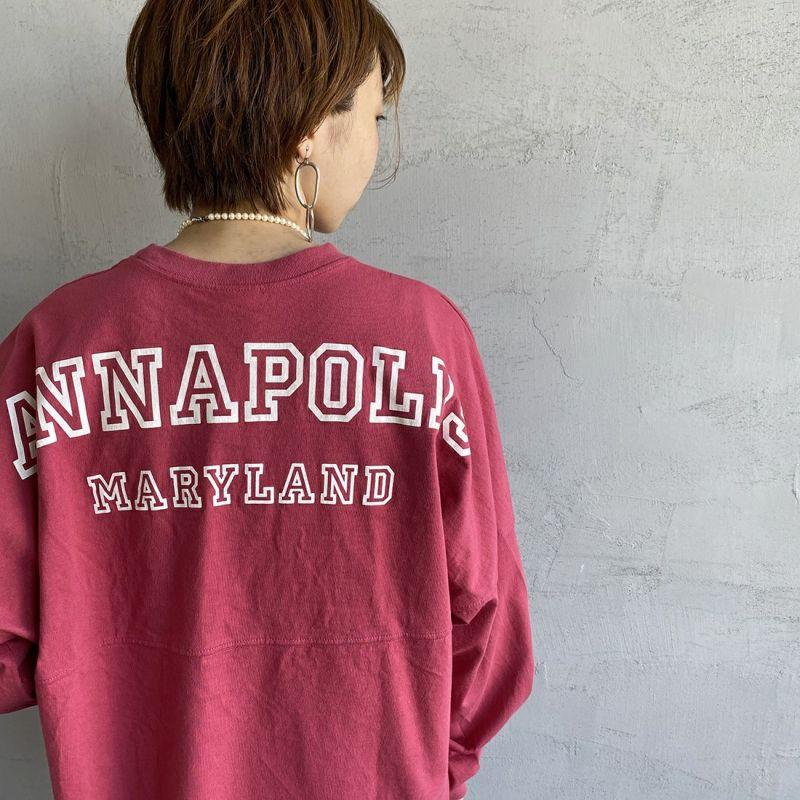 THE SHINZONE [ザ シンゾーン] ミリタリーバックプリントTシャツ [21AMSCU15] 24 RED
