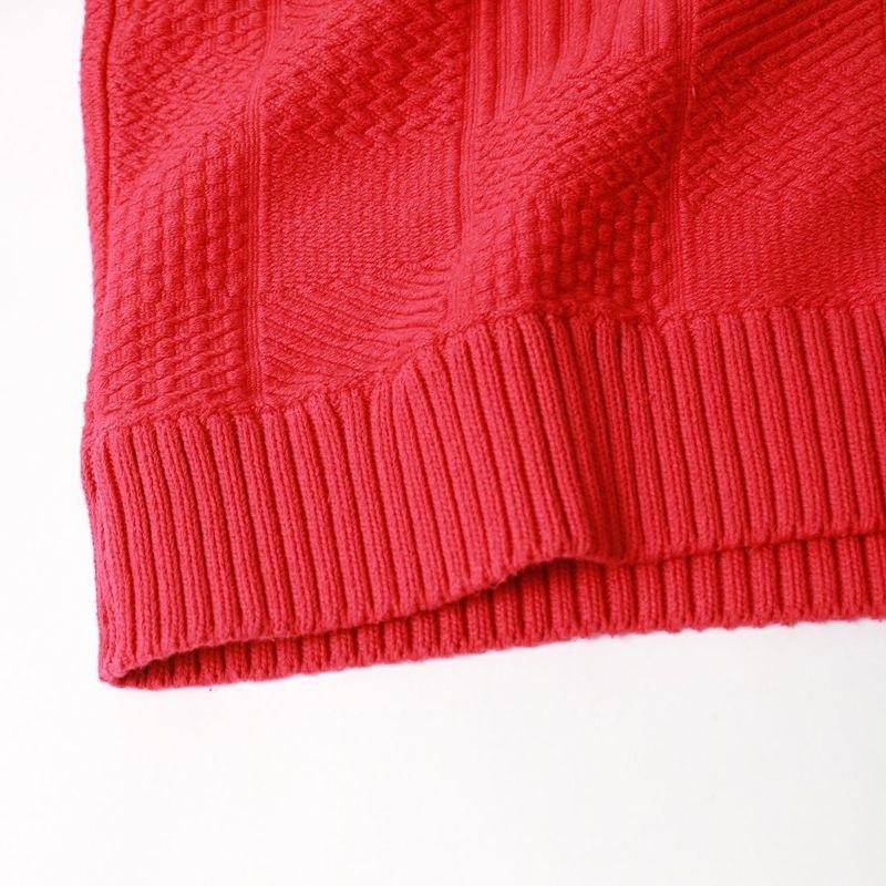 CAL O LINE [キャルオーライン] パネルケーブル クルーネックスウェット [CL212-030] RED