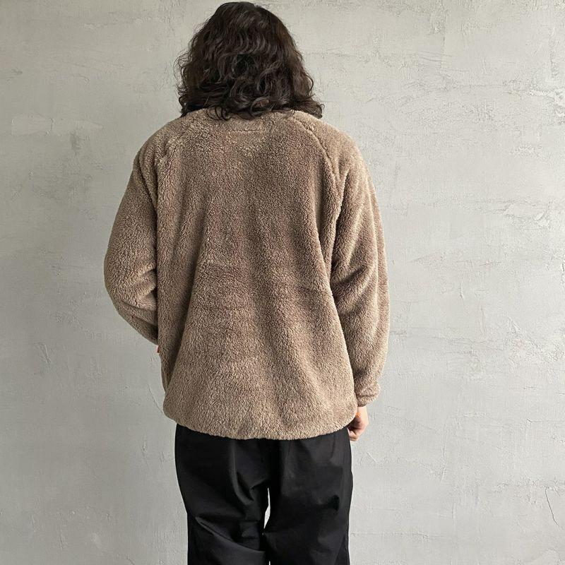 UNIVERSAL OVERALL [ユニバーサルオーバーオール] 別注 カバーオールボアフリースプルオーバー [U2131224IN-JF] GREY &&モデル身長:173cm 着用サイズ:M&&