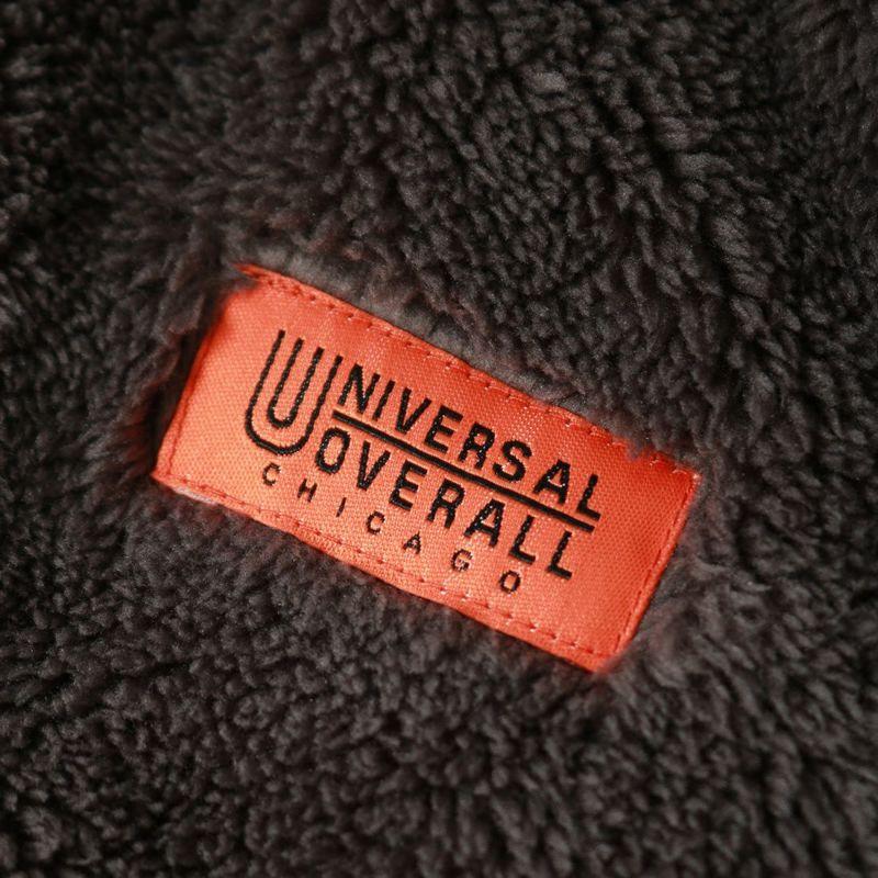 UNIVERSAL OVERALL [ユニバーサルオーバーオール] 別注 リバーシブル ノーカラーボアフリースカーディガン [U2132241IN-JF] CHARCOAL