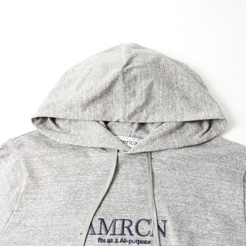 Americana [アメリカーナ] 編み出し段リブ フードTシャツ [BRF-549A-2] アッシュグレー