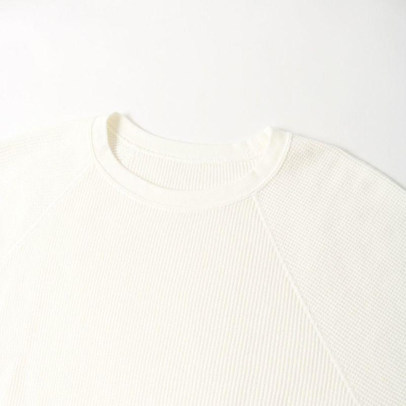 marmors [マルモア] ヴィンテージウォッシュワッフルカットソー [0221309032] WHITE