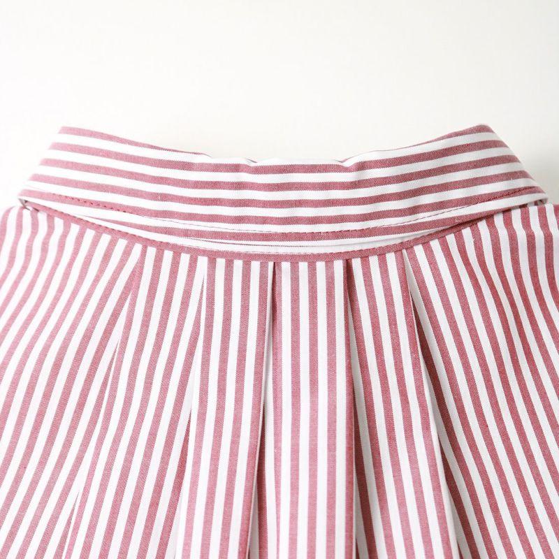 marmors [マルモア] ストライプロングシャツ [0221301038] RED