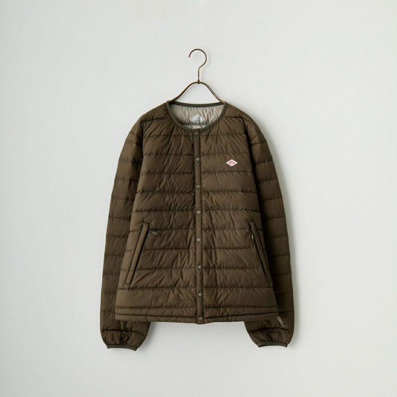 DANTON [ダントン] インナーダウンクルーネックジャケット [DT-A0025NNF] BLACK&&モデル身長:173cm 着用サイズ:M&&
