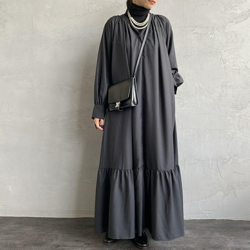 040 ブラック&&モデル身長:156cm 着用サイズ:38&&