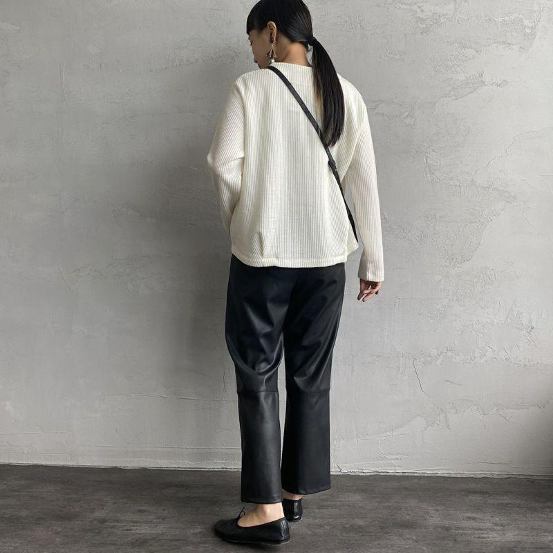 mizuiro ind [ミズイロインド] クルーネックカーディガン [3-219621] 11 OFF WHI&&モデル身長:156cm 着用サイズ:F&&