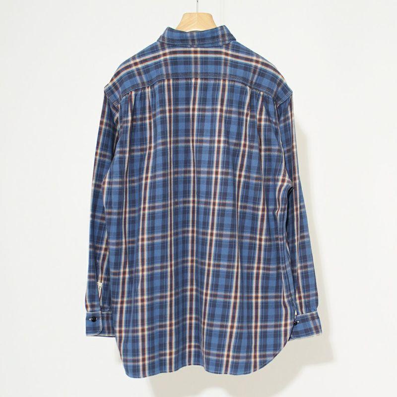 CAL O LINE [キャルオーライン] プラッドワークシャツ [CL212-041] BLUE