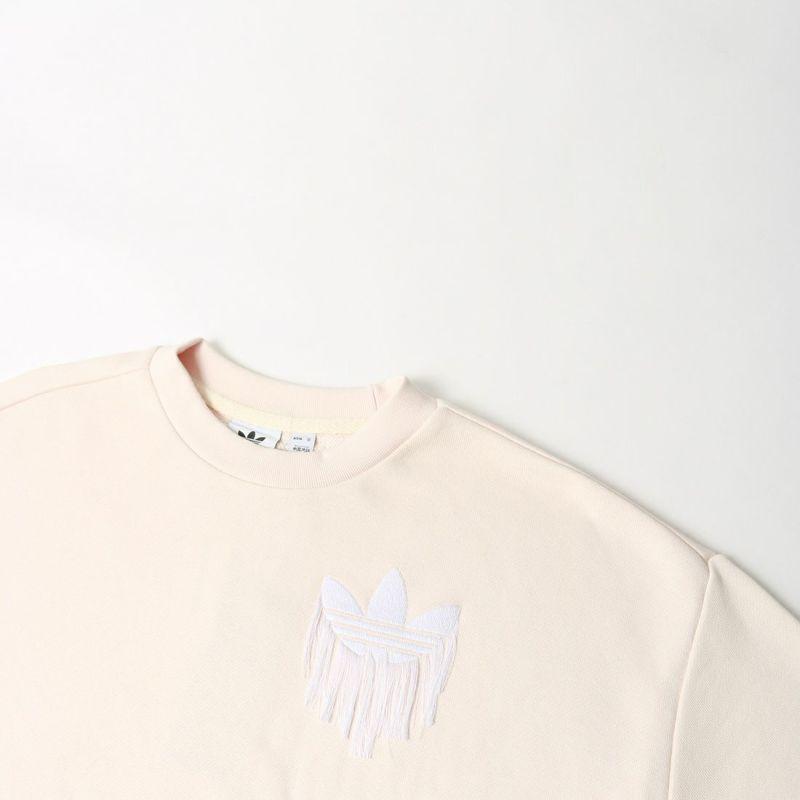 adidas Originals [アディダス オリジナルス] トレフォイル フリンジ刺繍付きスウェット [H18079] ワンダーホワイト