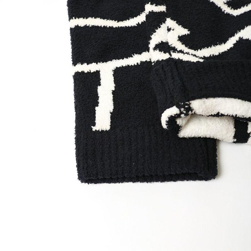 1PIU1UGUALE3 [ウノ ピゥ ウノ ウグァーレ トレ] FLUFFY LETTERED ロゴパンツ [USK-21016] BLACK