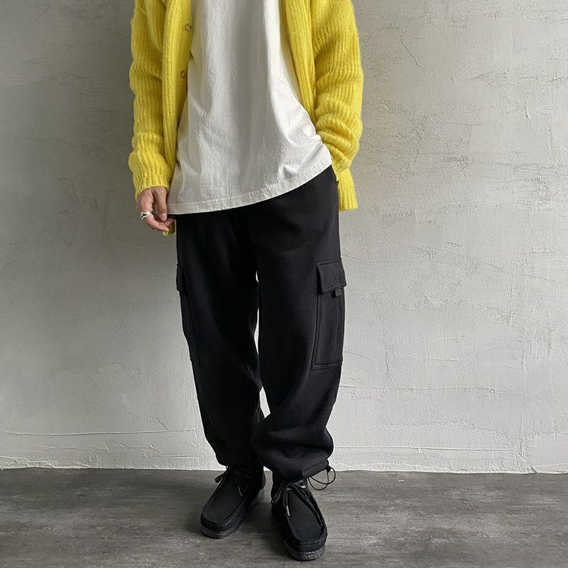 PRO5 [プロファイブ] ヘビーフリースパンツ [HEAVY-FLEECE-CARGO-P] BLACK&&モデル身長:173cm 着用サイズ:S&&