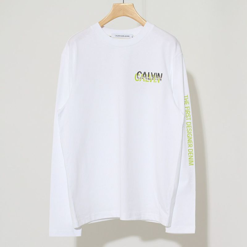Calvin Klein Jeans [カルバンクライン ジーンズ] クルーネックロングスリーブTシャツ [J30J319259] YAF