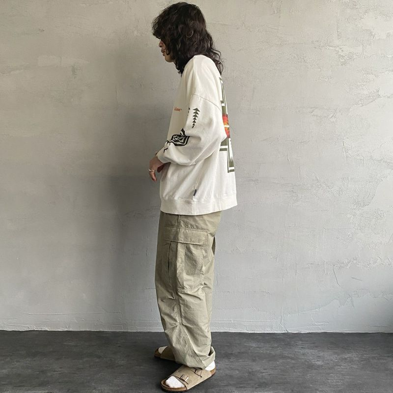 PENDLETON [ペンドルトン] 別注 バックプリントスウェット [1475-5220-JF] 09 WHITE&&モデル身長:173cm 着用サイズ:L&&
