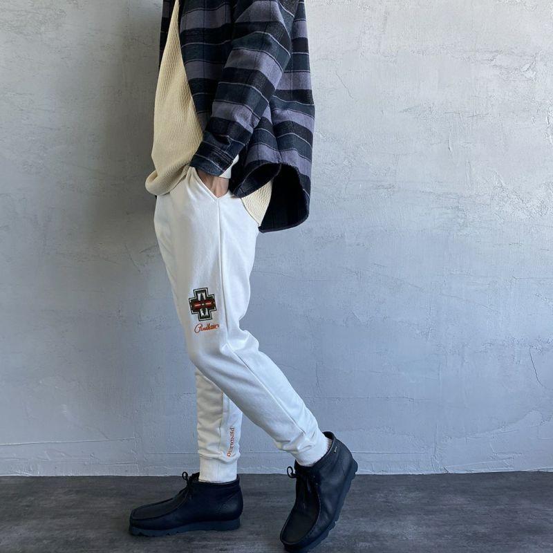 PENDLETON [ペンドルトン] 別注 スウェットパンツ [1475-5222-JF] 09 WHITE&&モデル身長:173cm 着用サイズ:M&&