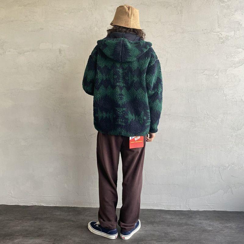 PENDLETON [ペンドルトン] ネイティブ柄 ボアフードジャケット [1475-5009] 61 JAY BLU&&モデル身長:173cm 着用サイズ:M&&