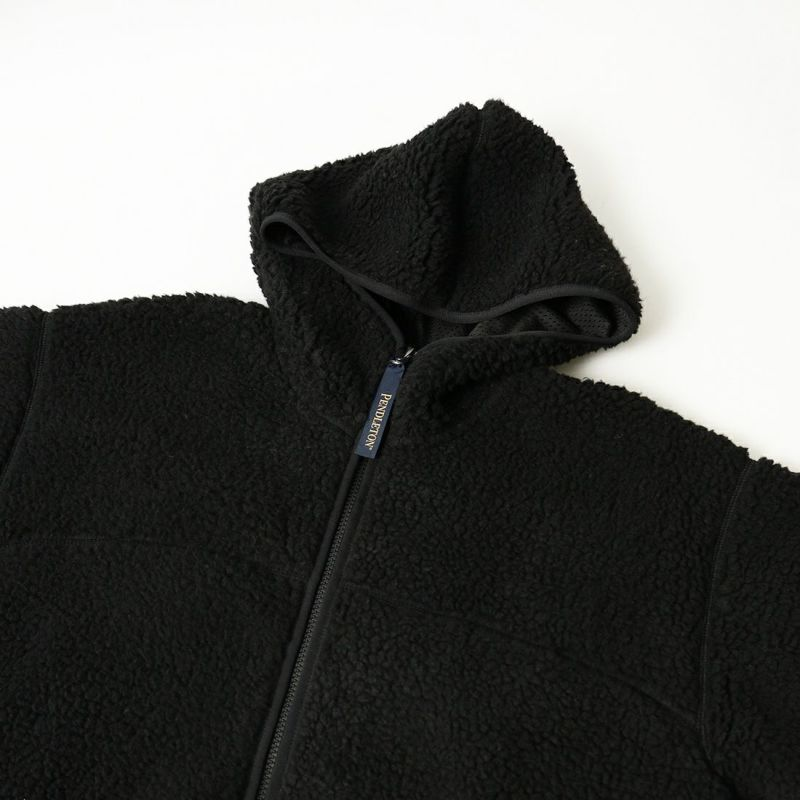 PENDLETON [ペンドルトン] ネイティブ柄 ボアフードジャケット [1475-5009] 49 BLACK