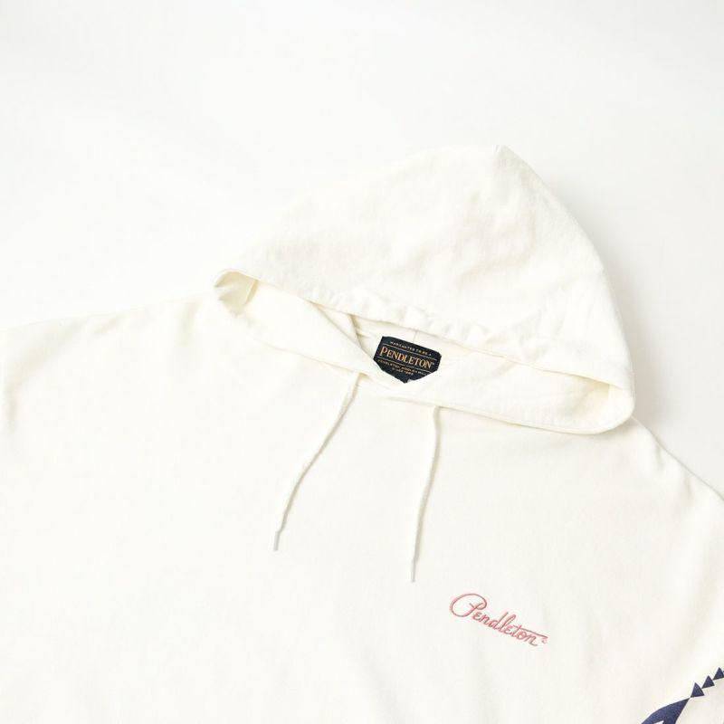PENDLETON [ペンドルトン] 別注 バックプリントスウェットパーカー [1475-5221-JF] 09 WHITE