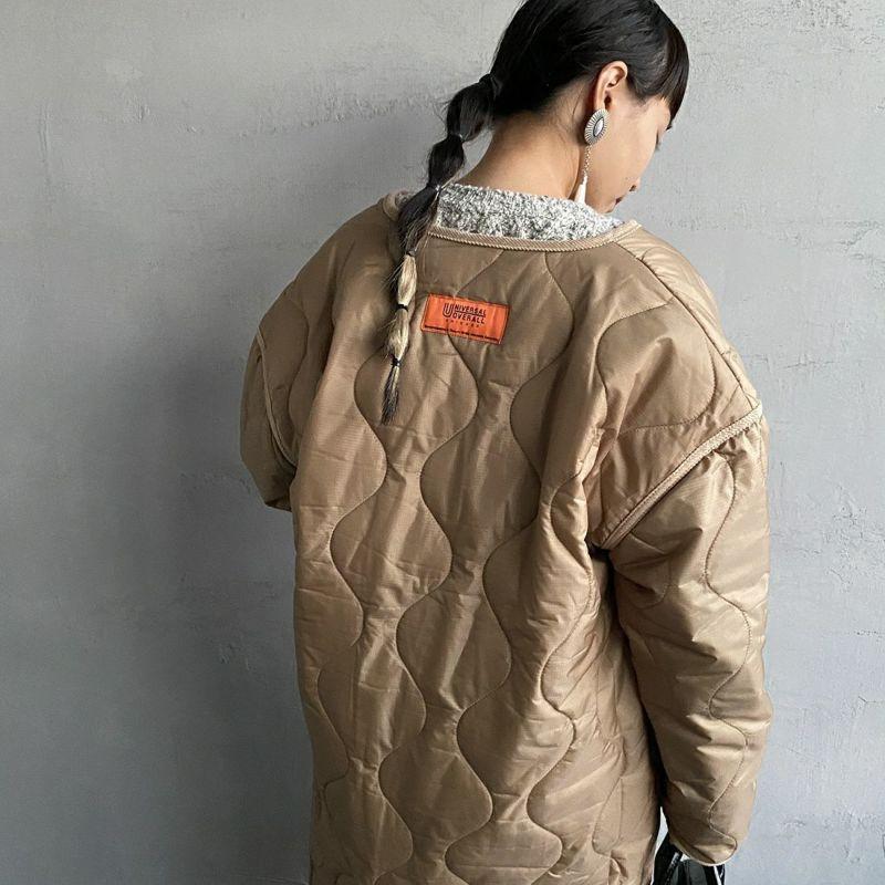 UNIVERSAL OVERALL [ユニバーサルオーバーオール] 別注 ノーカラーキルティングジャケットコート [U2133504IN-JF] COYOTE