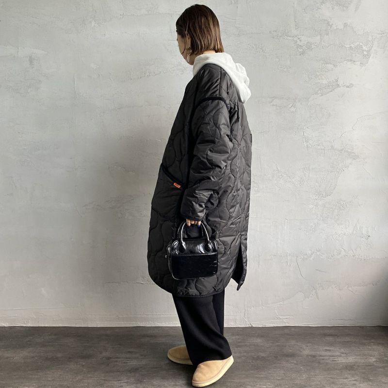 UNIVERSAL OVERALL [ユニバーサルオーバーオール] 別注 ノーカラーキルティングジャケットコート [U2133504IN-JF] BLACK