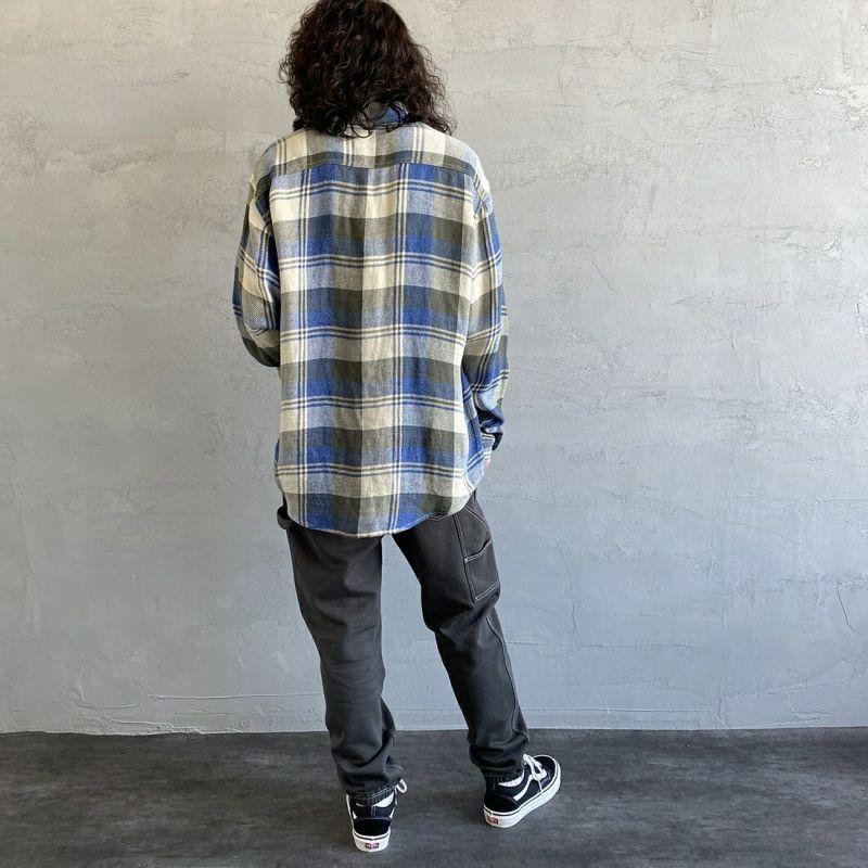 SMITH'S [スミス] 別注 ペインタースウェットパンツ [1475-5252-JF] 39 INK BLK&&モデル身長:173cm 着用サイズ:L&&