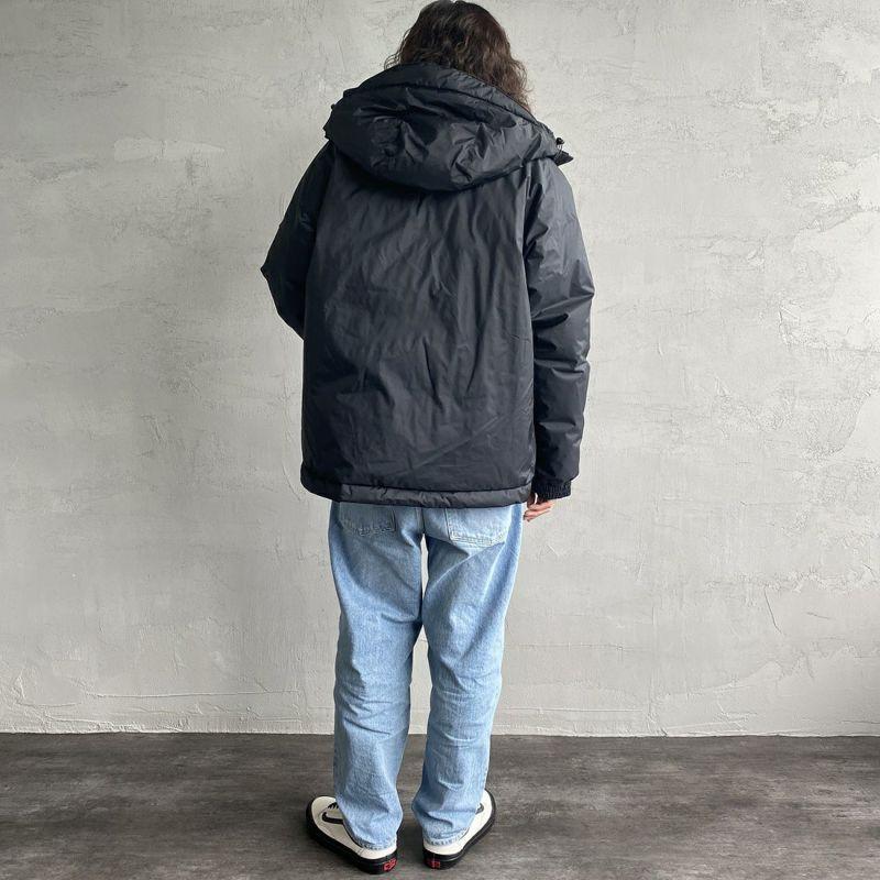 JEANSFACTORY × NANGA [ジーンズファクトリー × ナンガ] 別注 オーロラダウンジャケット [JMP-214-036-JF] BLACK&&モデル身長:173cm 着用サイズ:XL&&